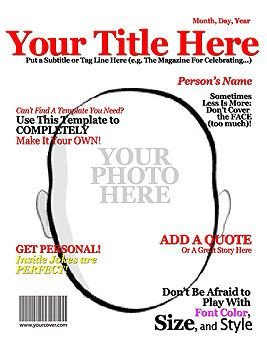 Magazine Cover Templates Free Make Your Own Magazine Cover Superhero Party
