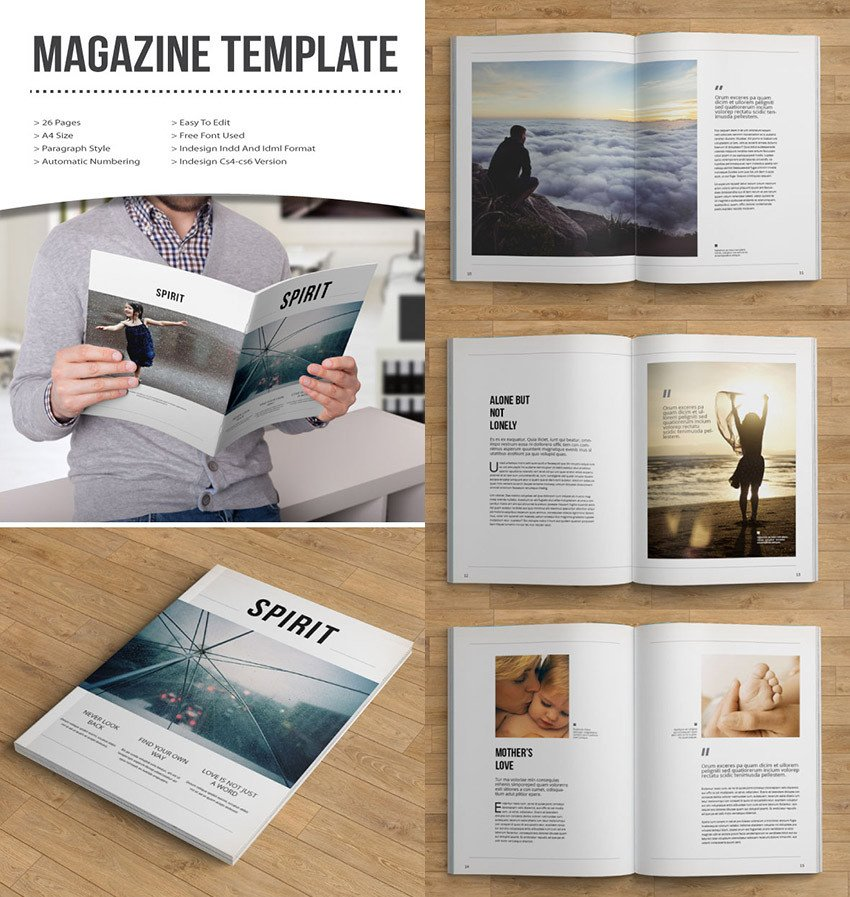 Magazine Layout Templates Free Download 20 Magazine Templates with Creative Print Layout Designs