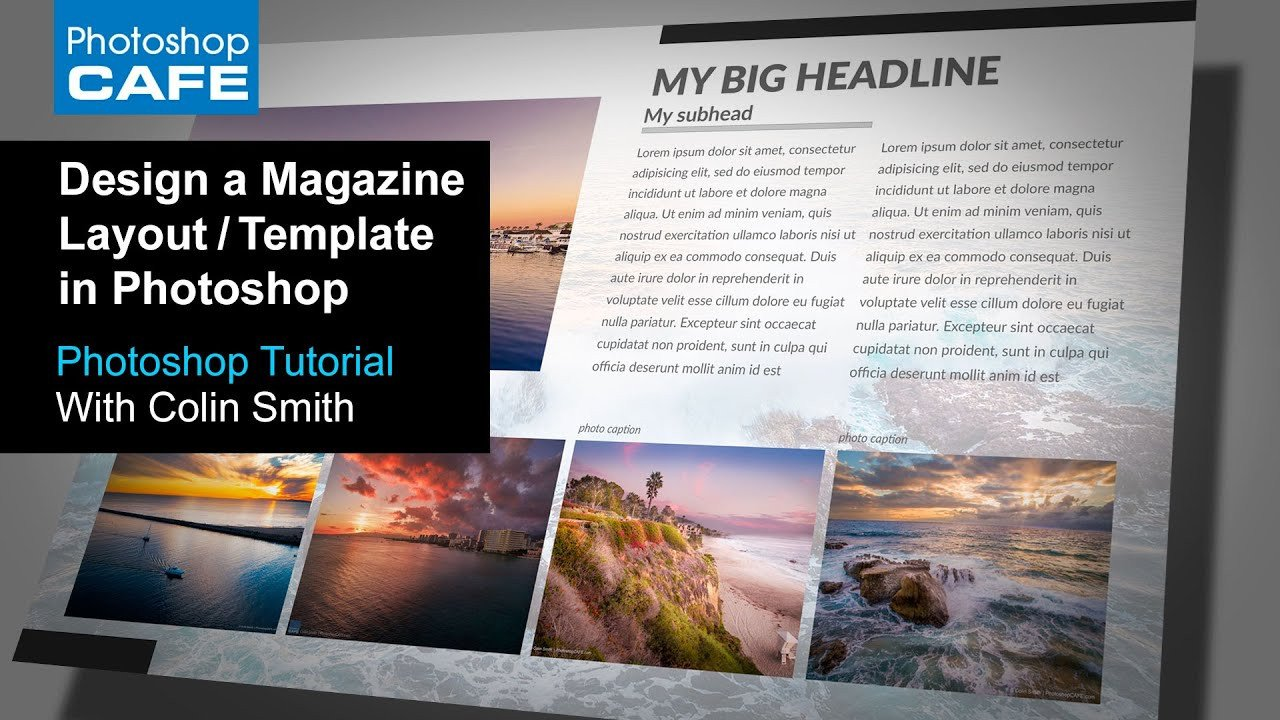 Magazine Layout Templates Free Download Create A Magazine Layout Template In Shop Tutorial