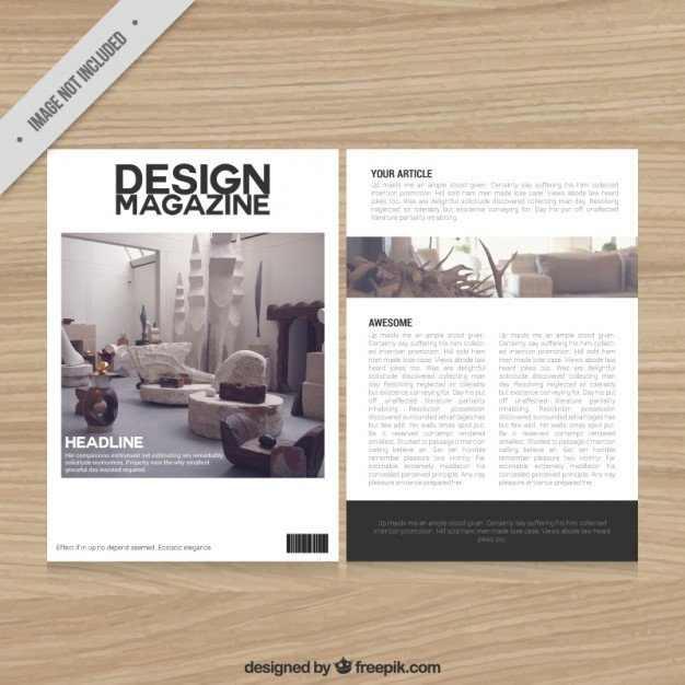 Magazine Layout Templates Free Download Decoration Magazine Template Vector