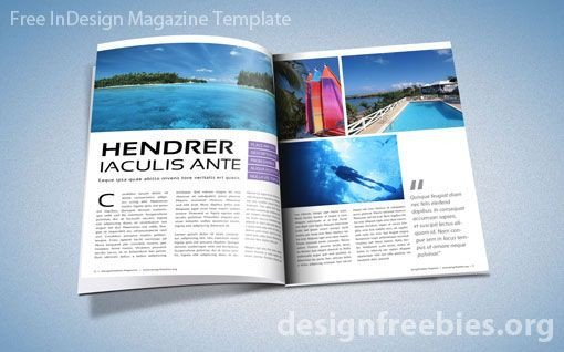 Magazine Layout Templates Free Download Free Adobe Indesign Magazine Template