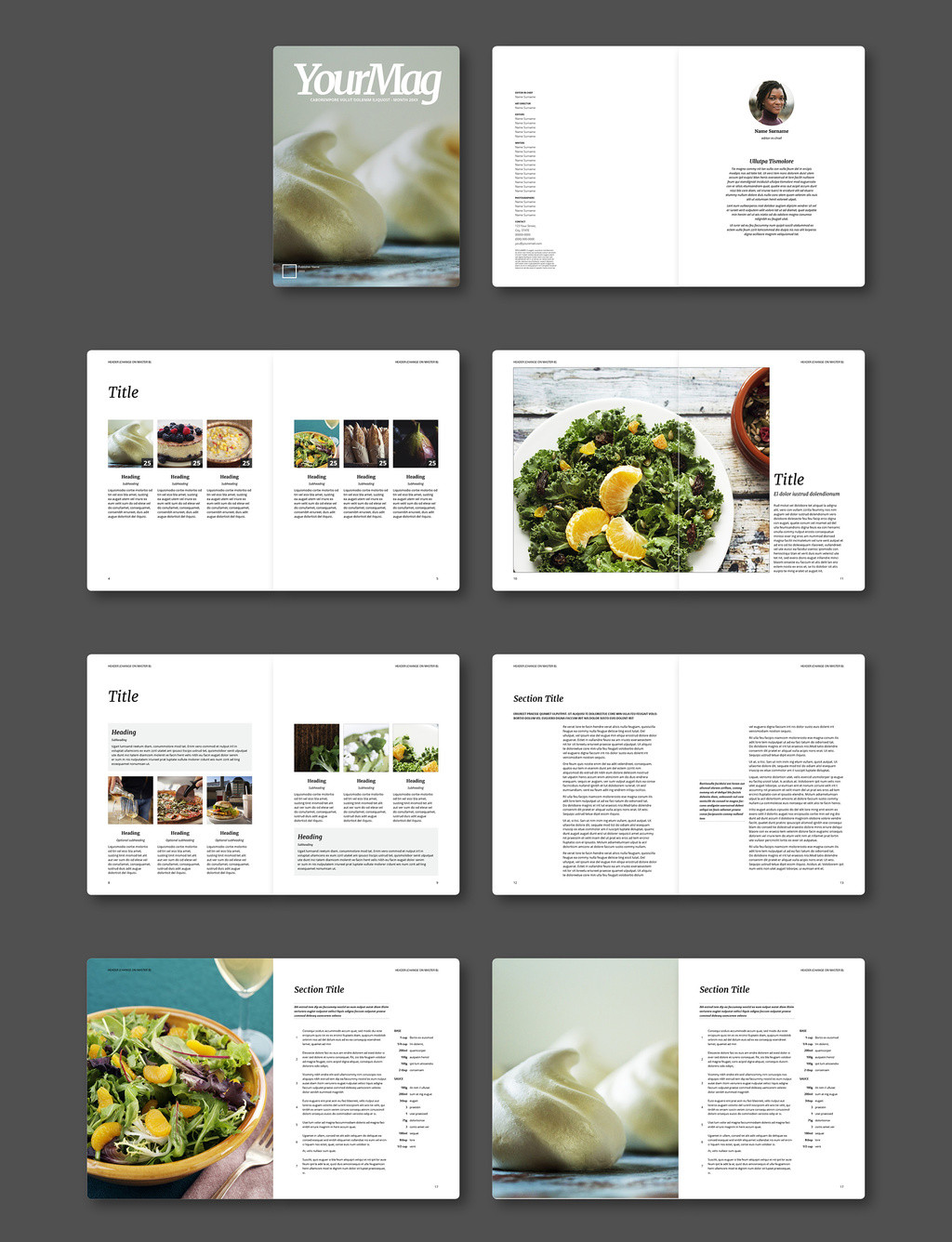 Magazine Layout Templates Free Download Free Indesign Magazine Templates