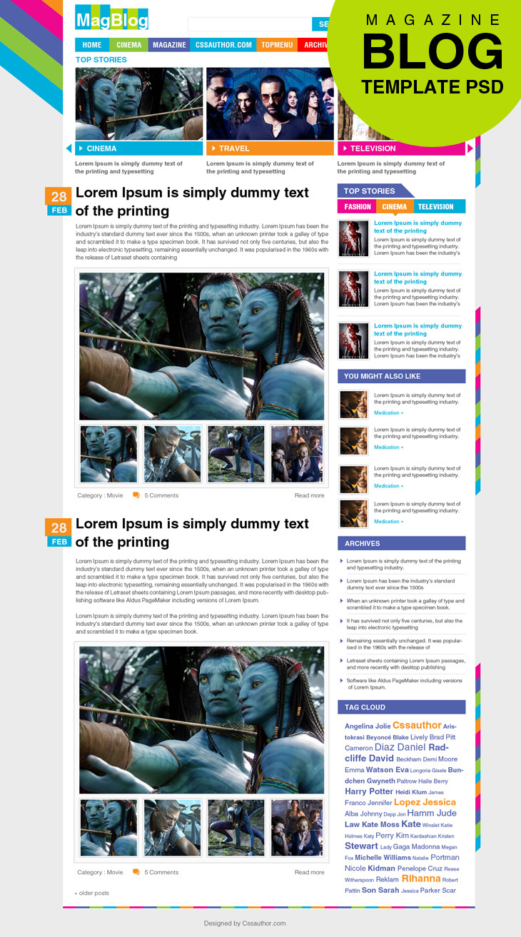 Magazine Layout Templates Free Download Premium Magazine Blog Template Psd for Free Download