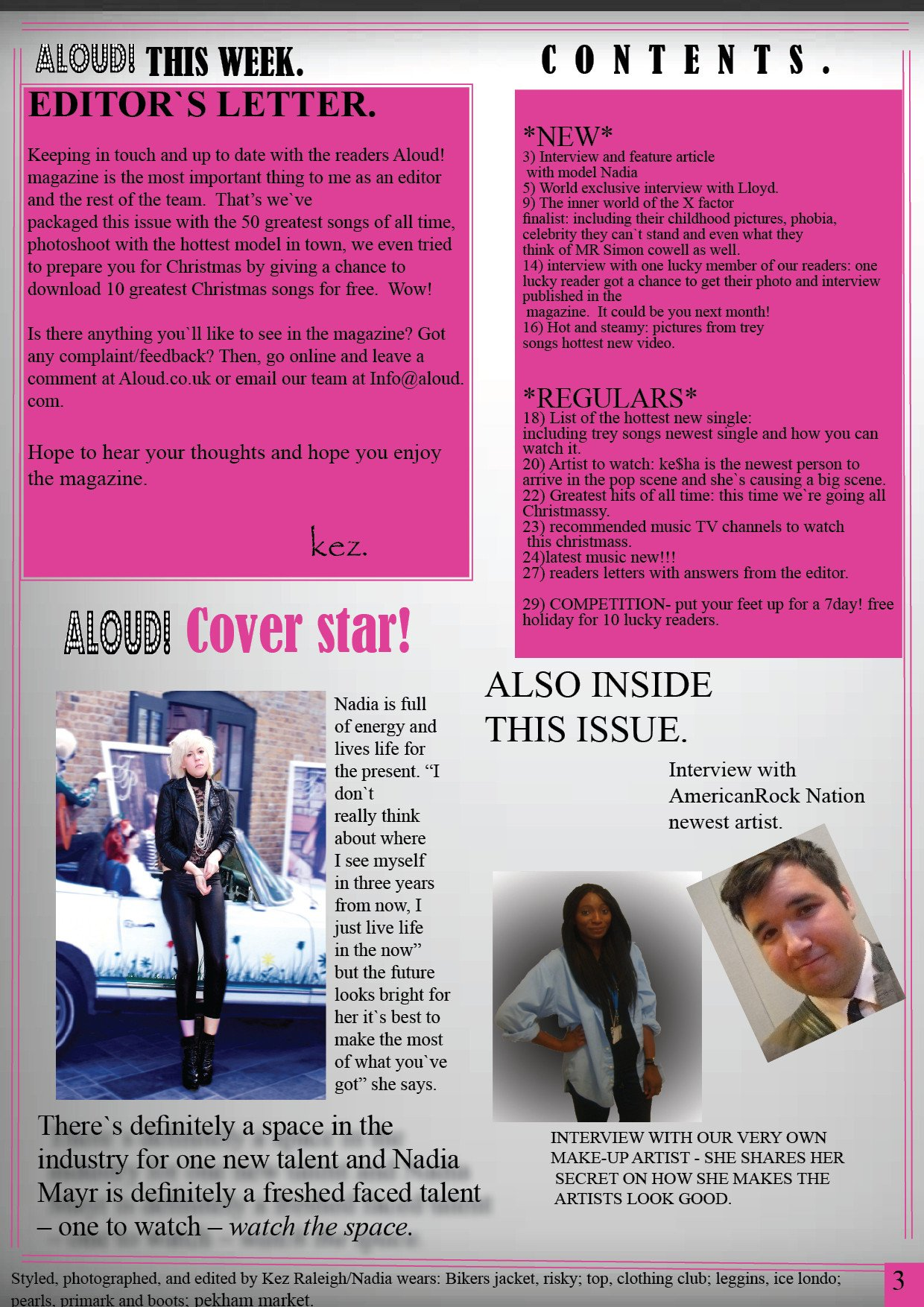 Magazine Template for Microsoft Word as Media Studies