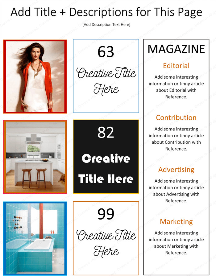 Magazine Template for Microsoft Word Magazine Template for Microsoft Word Dotxes