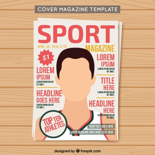 Magazines Cover Templates Free Cover Sport Magazine Template Vector