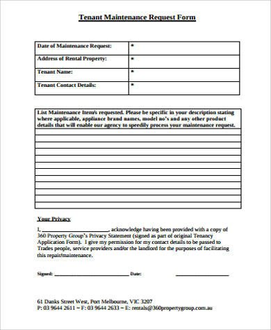 Maintenance Request form Template Sample Maintenance Request form 11 Examples In Word Pdf