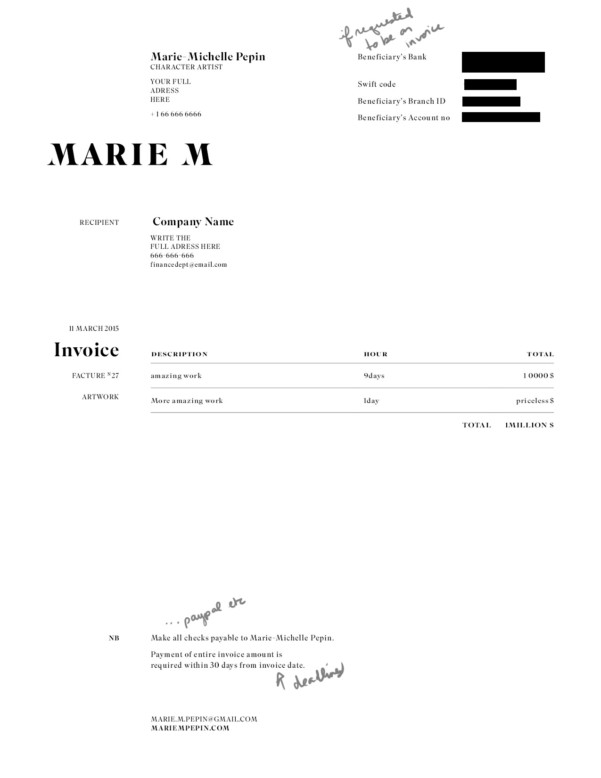 Makeup Artist Invoice Template Artist Invoice Samples Spreadsheet Templates for Busines