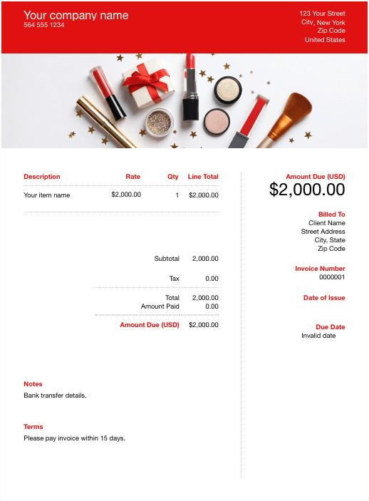 Makeup Artist Invoice Template Free Makeup Artist Invoice Template Download now