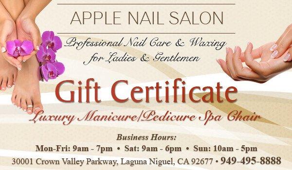 Mani Pedi Gift Certificate Template Luxury Manicure Pedicure Spa Chair Gift Certificate