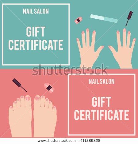 Mani Pedi Gift Certificate Template Nail Gift Certificate Template Free