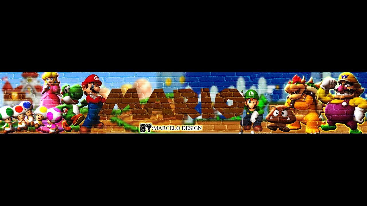 Mario Youtube Banner 3 Basic Banner Mario