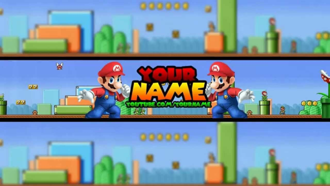Mario Youtube Banner Free Banner