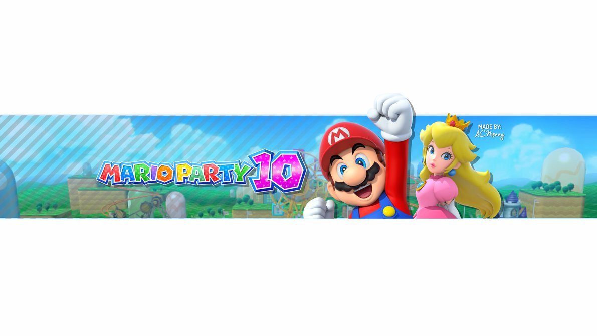 Mario Youtube Banner Free Mario Party 10 Banner by Acmenny On Deviantart