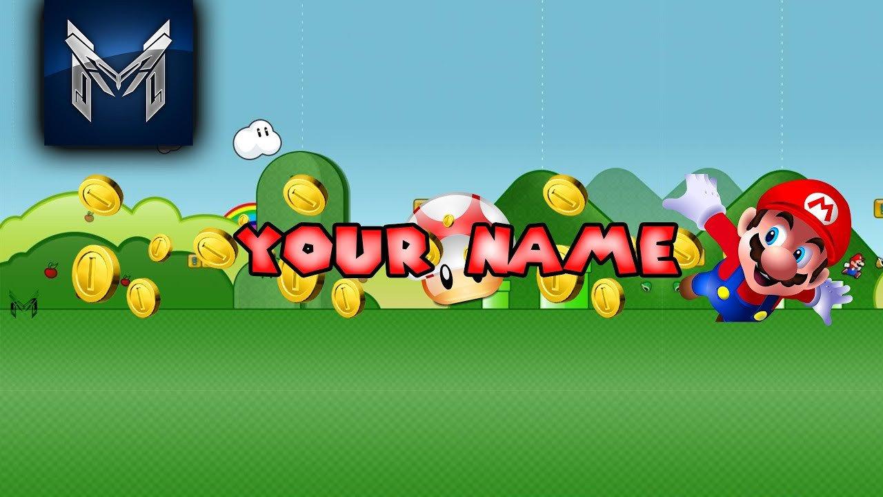 Mario Youtube Banner Mario Youtube Banner Template Free Dowland