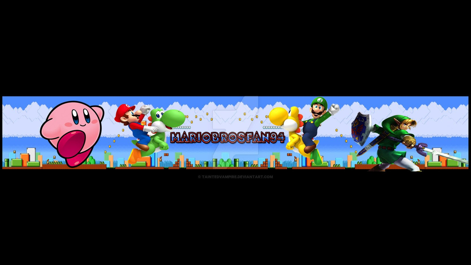 Mario Youtube Banner Mariobrosfan94 Banner Youtube by Taintedvampire On