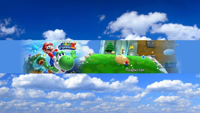 Mario Youtube Banner Super Mario Galaxy 2 Channel Art Banner Channel