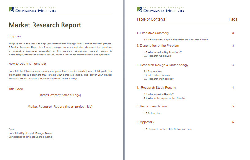 Market Research Report Template Pinterest • the World's Catalog Of Ideas