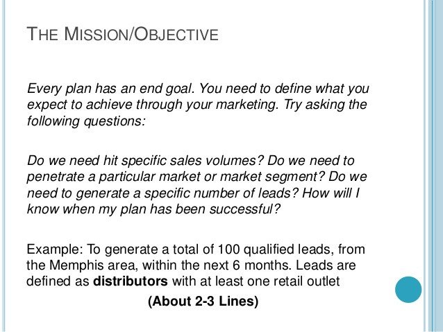 Marketing One Sheet Template A Quick One Page Marketing Plan Template