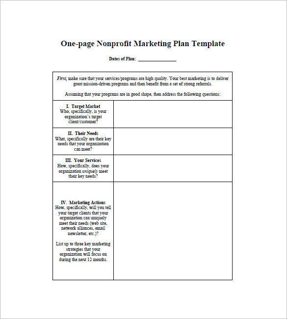 Marketing One Sheet Template E Page Marketing Plan Template 16 Free Sample