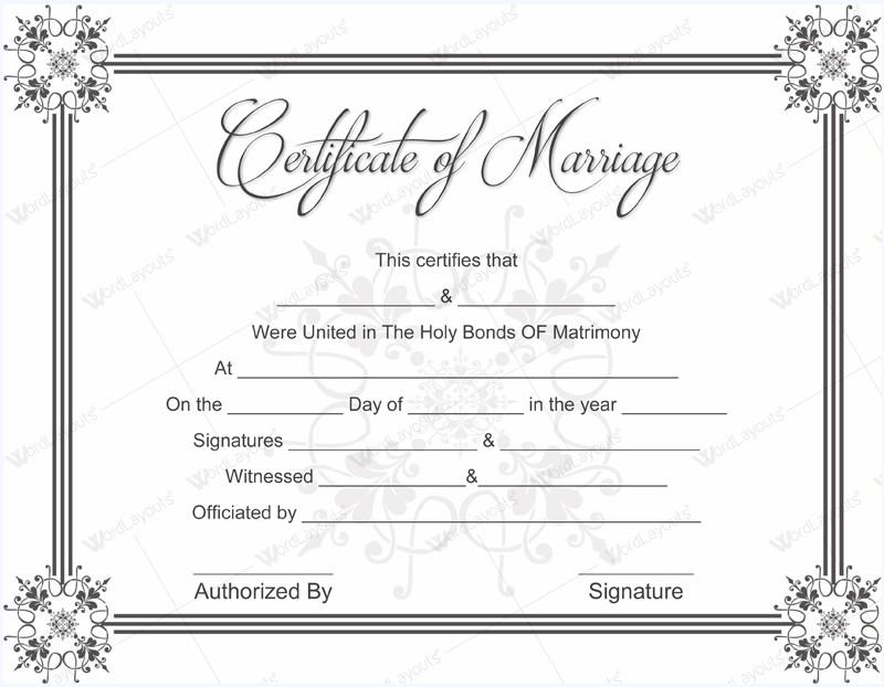 Marriage Certificate Template Microsoft Word 10 Beautiful Marriage Certificate Templates to Try This Season