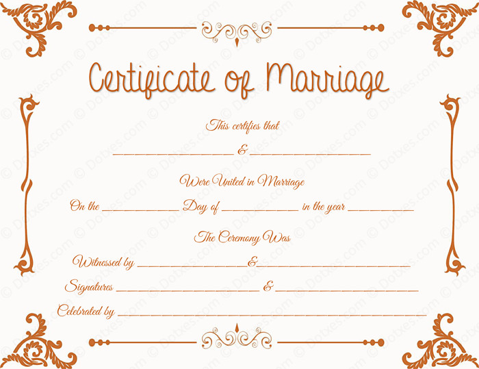 Marriage Certificate Template Microsoft Word Floral Corner Marriage Certificate Template Dotxes