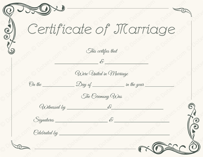 Marriage Certificate Template Microsoft Word Standard Marriage Certificate Template Dotxes