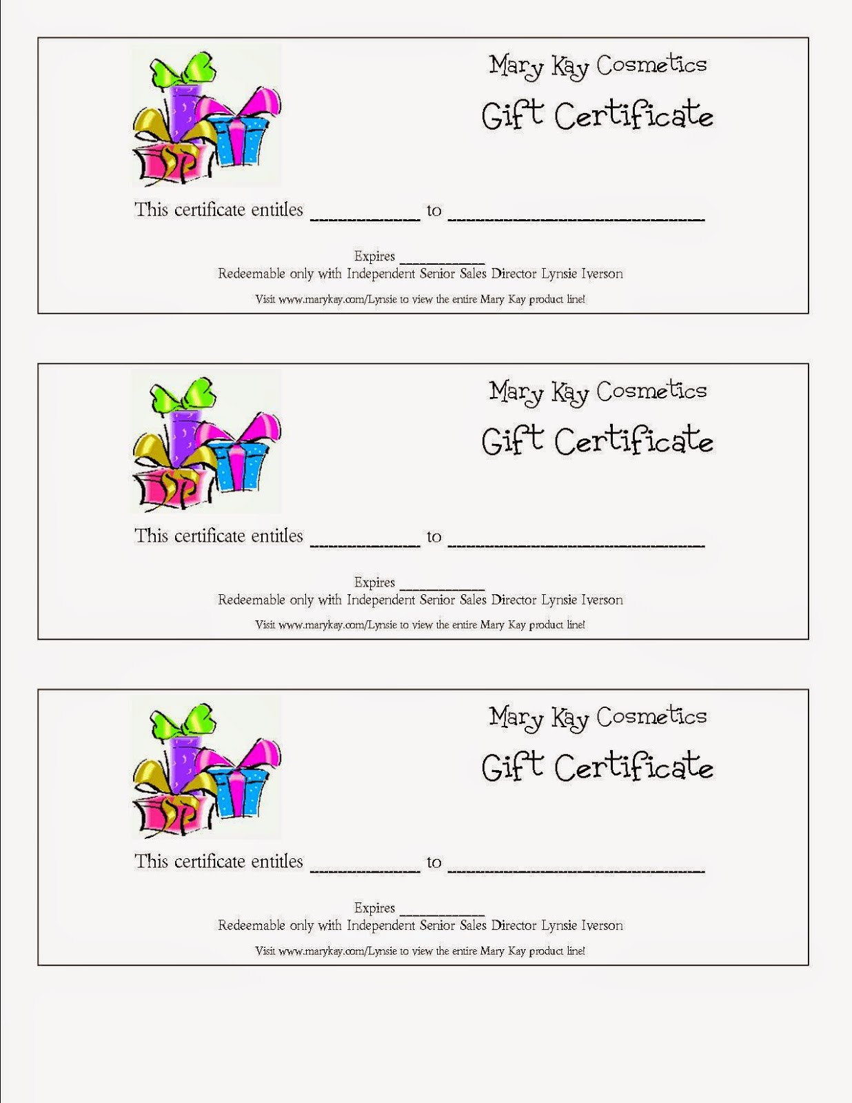Mary Kay Gift Certificates Pdf Mary Kay Gift Certificate Pdf