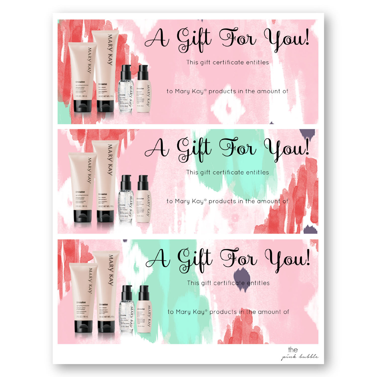 Mary Kay Gift Certificates Pdf Mary Kay Gift Certificate Template – Lamoureph Blog