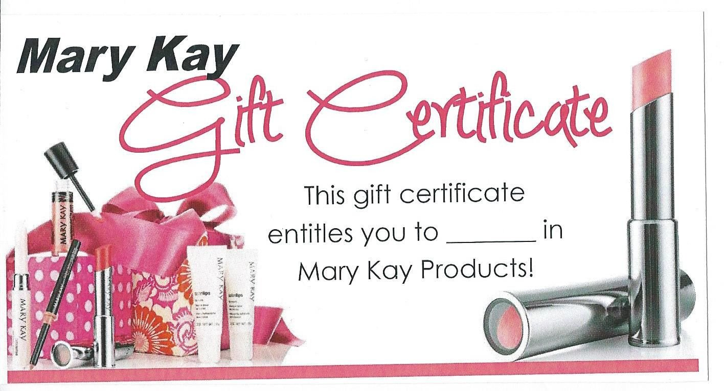 Mary Kay Gift Certificates Pdf Mk Gift Certificate Mary Kay