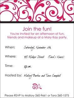 Mary Kay Invitation Templates Free Printable Mary Kay Invitations Invitation Templates