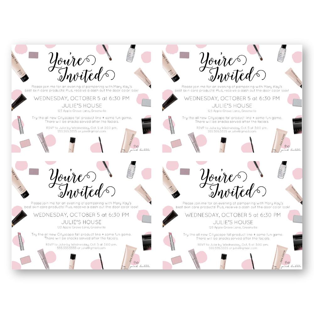 Mary Kay Invitation Templates Invitations — the Pink Bubble