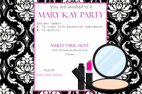 Mary Kay Invitation Templates Items Similar to Pink and Black Party Invitation Mary Kay