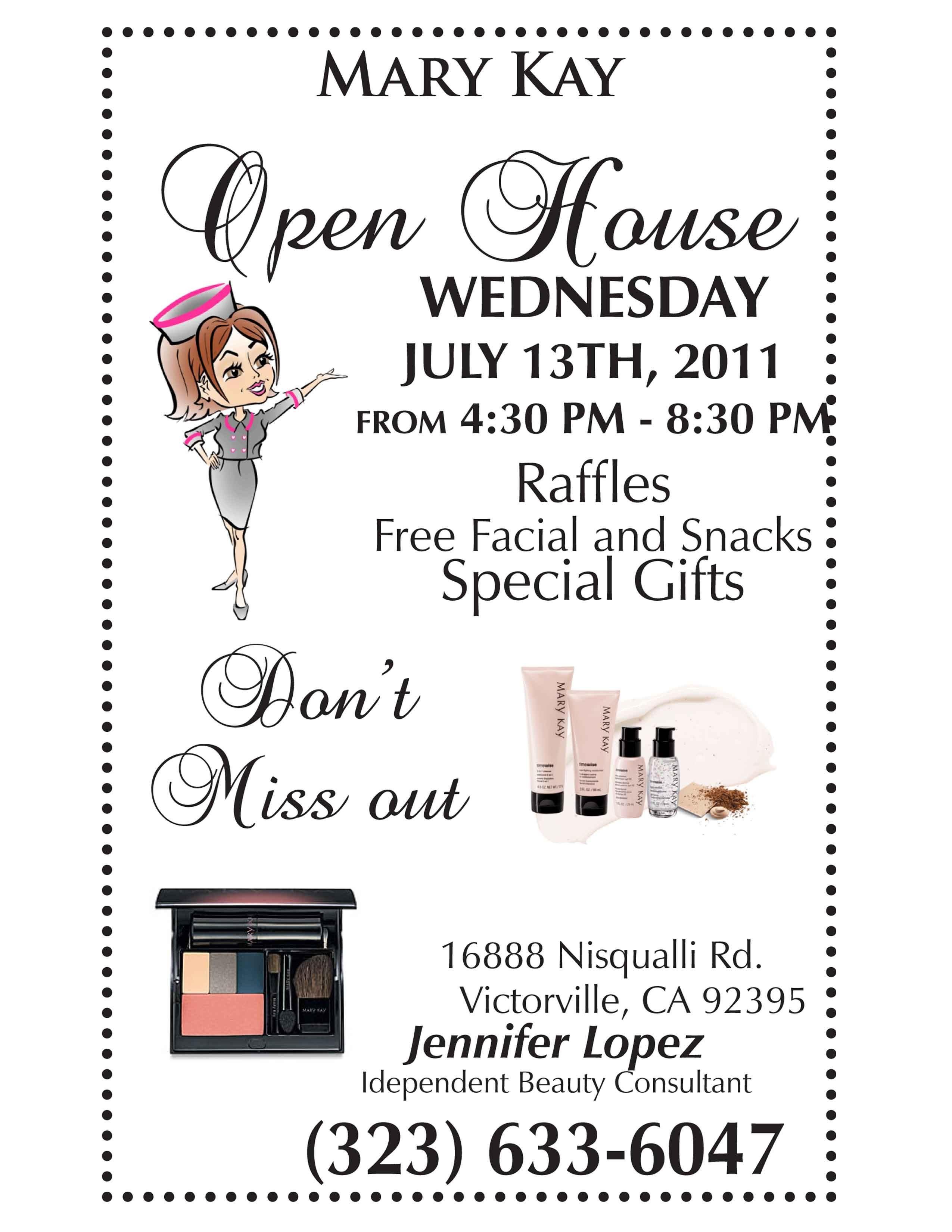 Mary Kay Invitation Templates Mary Kay Open House Flyer Template Google Search