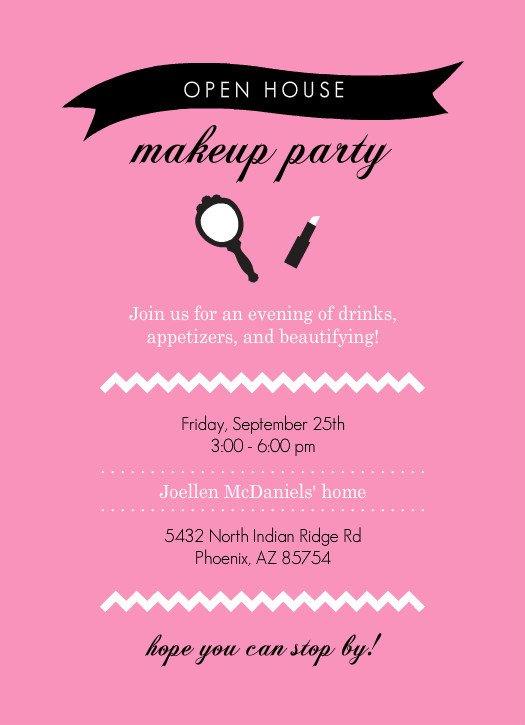 Mary Kay Invitation Templates Mary Kay Party Invitations