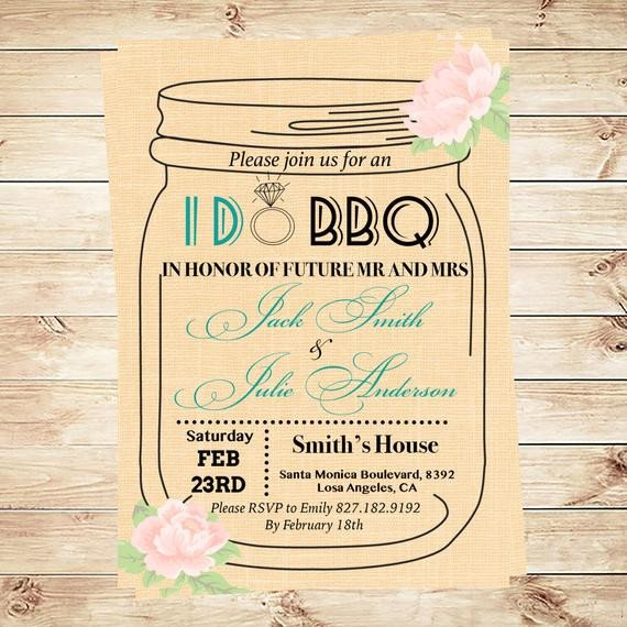 Mason Jar Invitation Template I Do Bbq Invitation Template Mason Jar by Diypartyinvitation