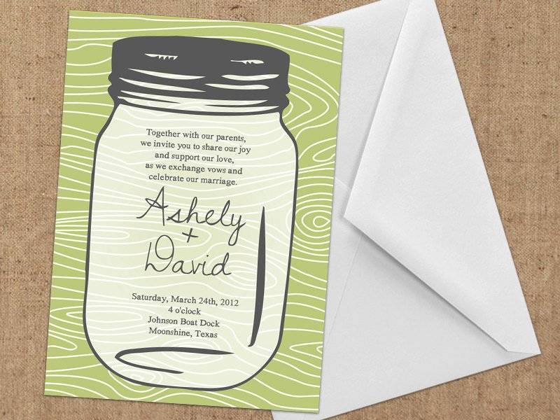 Mason Jar Invitation Template Invitations Mason Jar Diy Printable