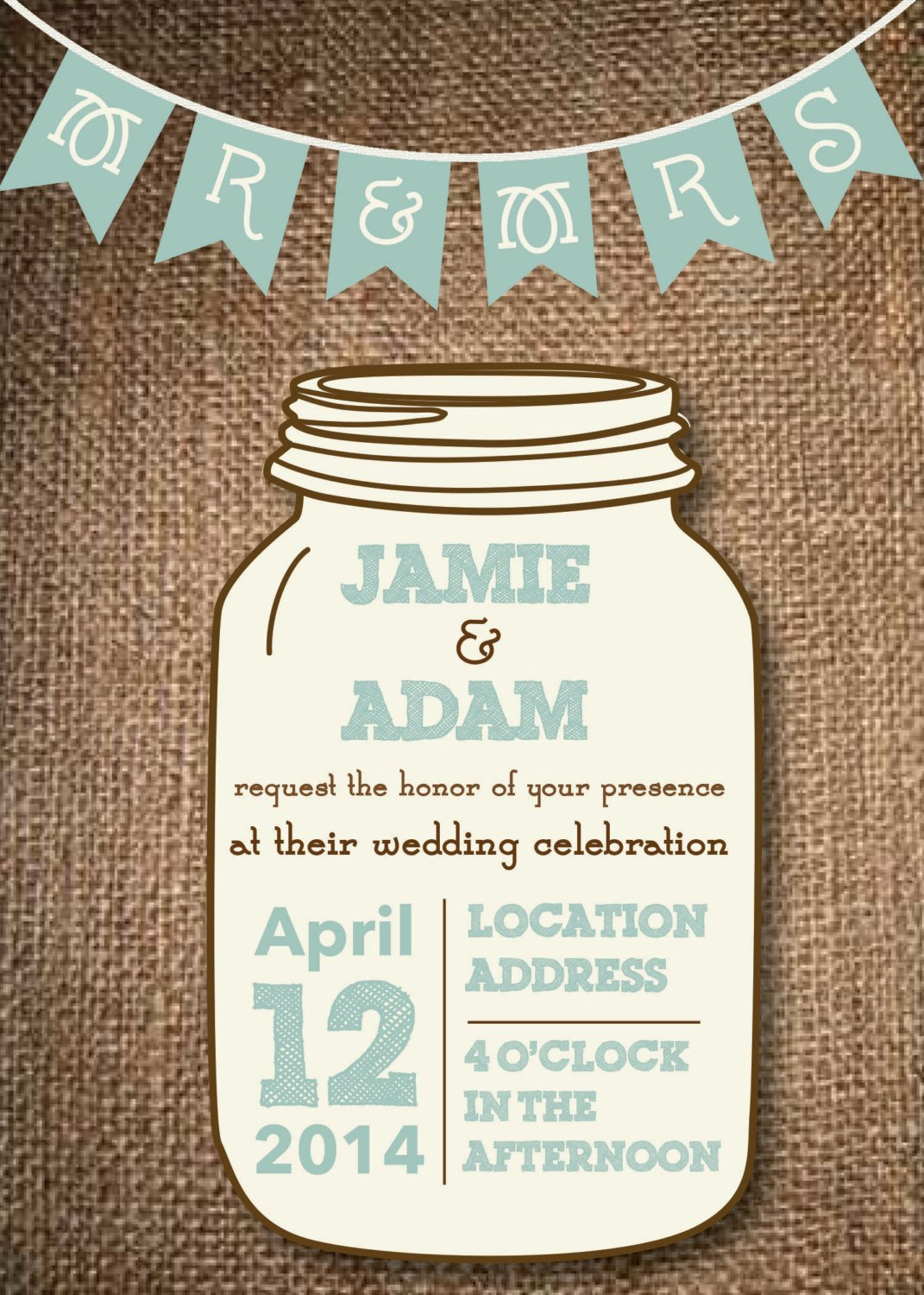 Mason Jar Invitation Template Kitchen & Dining