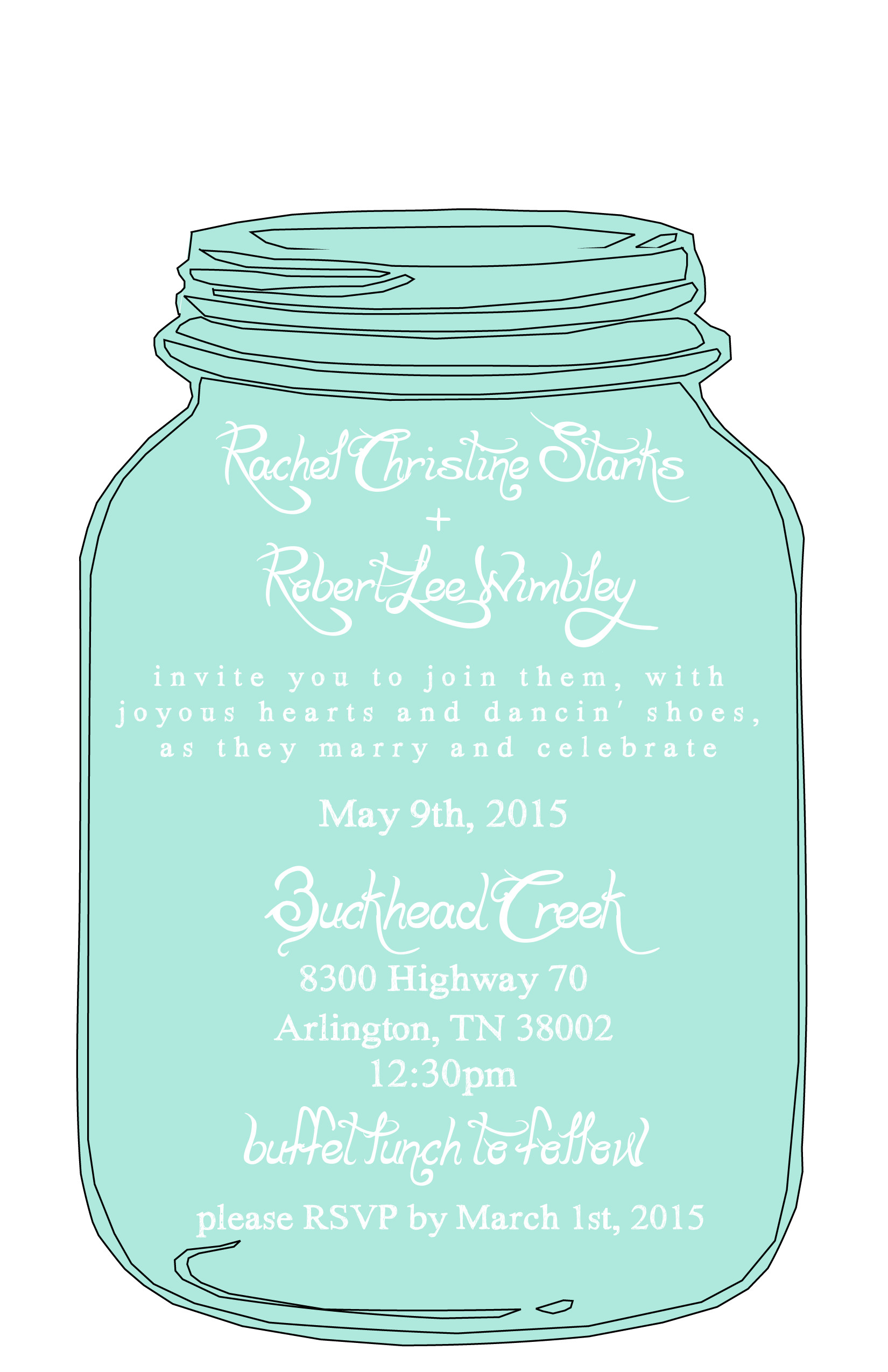 Mason Jar Invitation Template Mason Jar Free Printable Wedding Invitations Templates