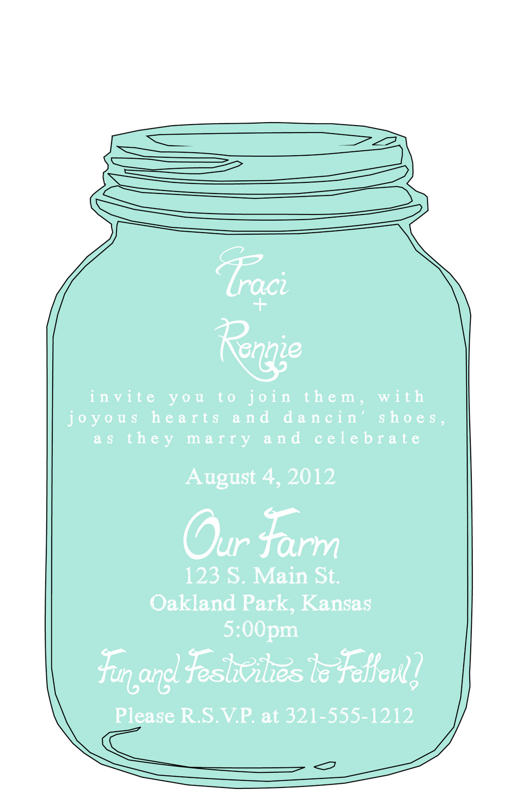 Mason Jar Invitation Template Mason Jar Wedding Invitation Templates