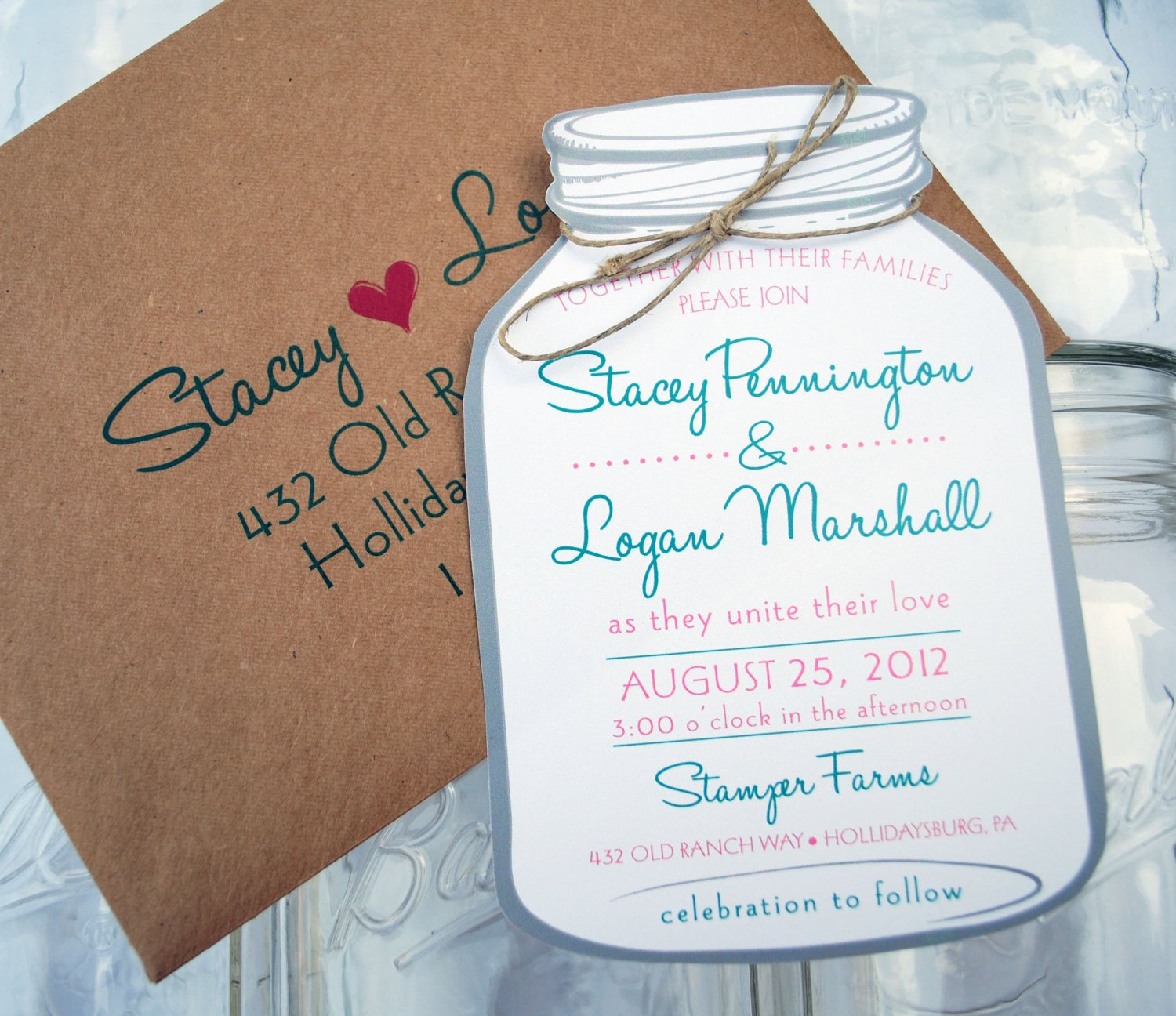 Mason Jar Invitation Template Unavailable Listing On Etsy