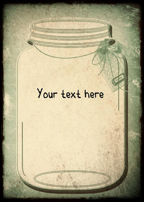 Mason Jar Invitation Template Vintage Wedding Invitation Template and Rsvpmason by