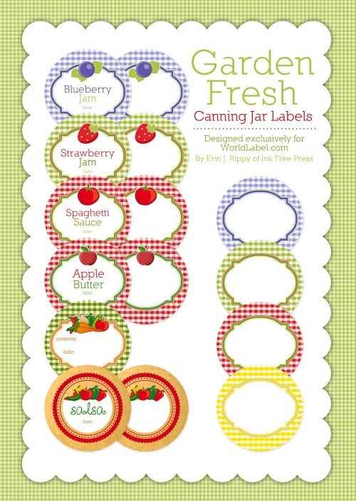 Mason Jar Label Template Canning Label Templates