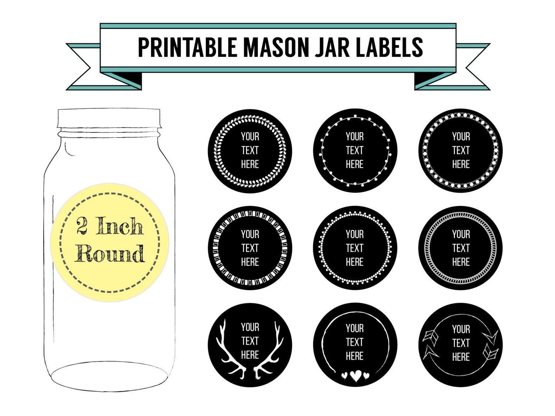 Mason Jar Label Template Printable Diy Chalkboard Mason Jar Labels Canning Labels 9