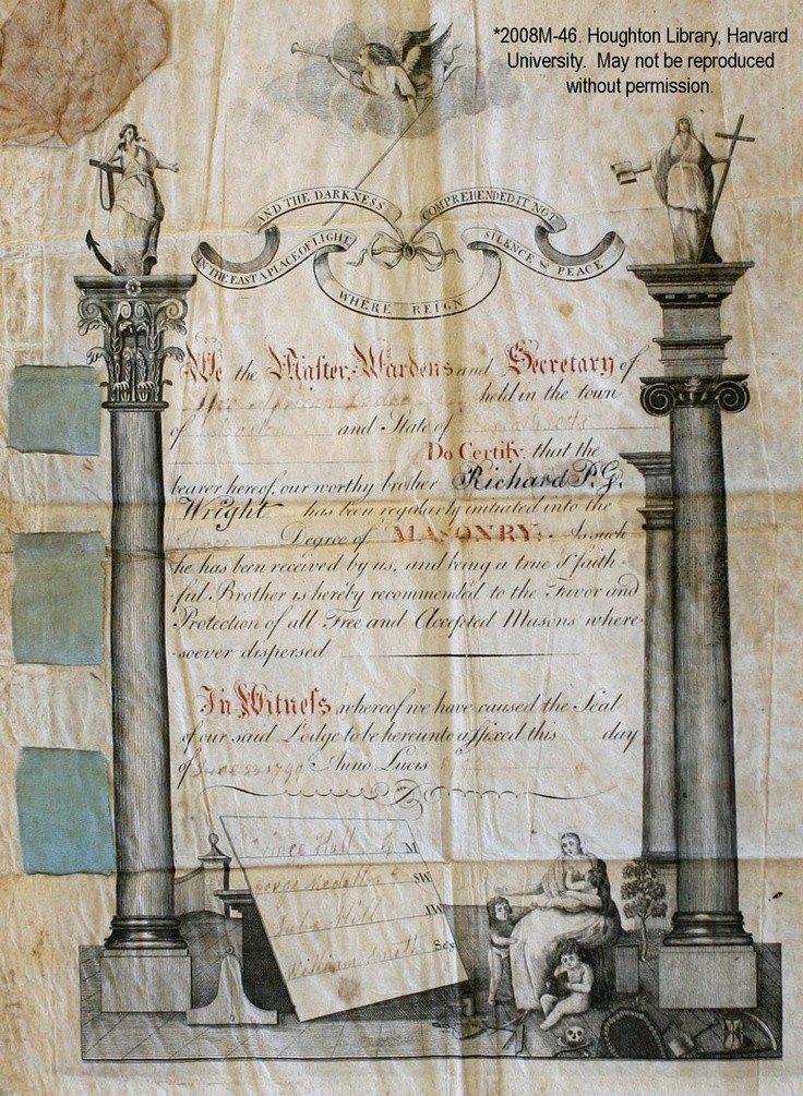 Masonic Certificate Template Free 8 Best Masonic Diplomas Images On Pinterest