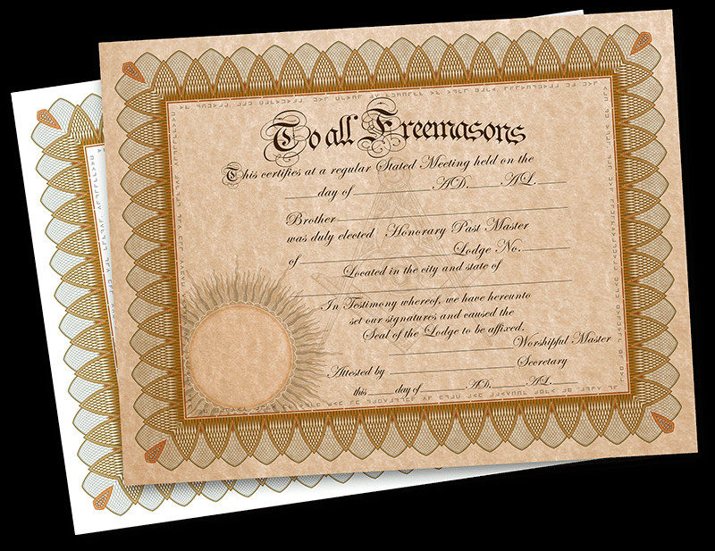 Masonic Certificate Template Free Free Honorary Masonic Membership Certificate Fossil Bluff