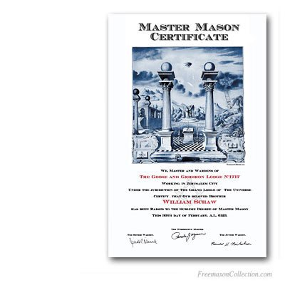 Masonic Certificate Template Free Master Mason Certificate Masonic Certificates Awards and