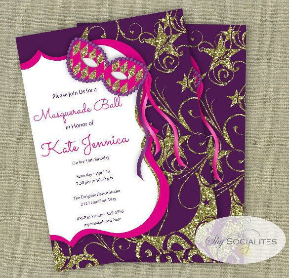 Masquerade Invitations Template Free 24 Masquerade Invitation Templates Word Psd Ai Eps