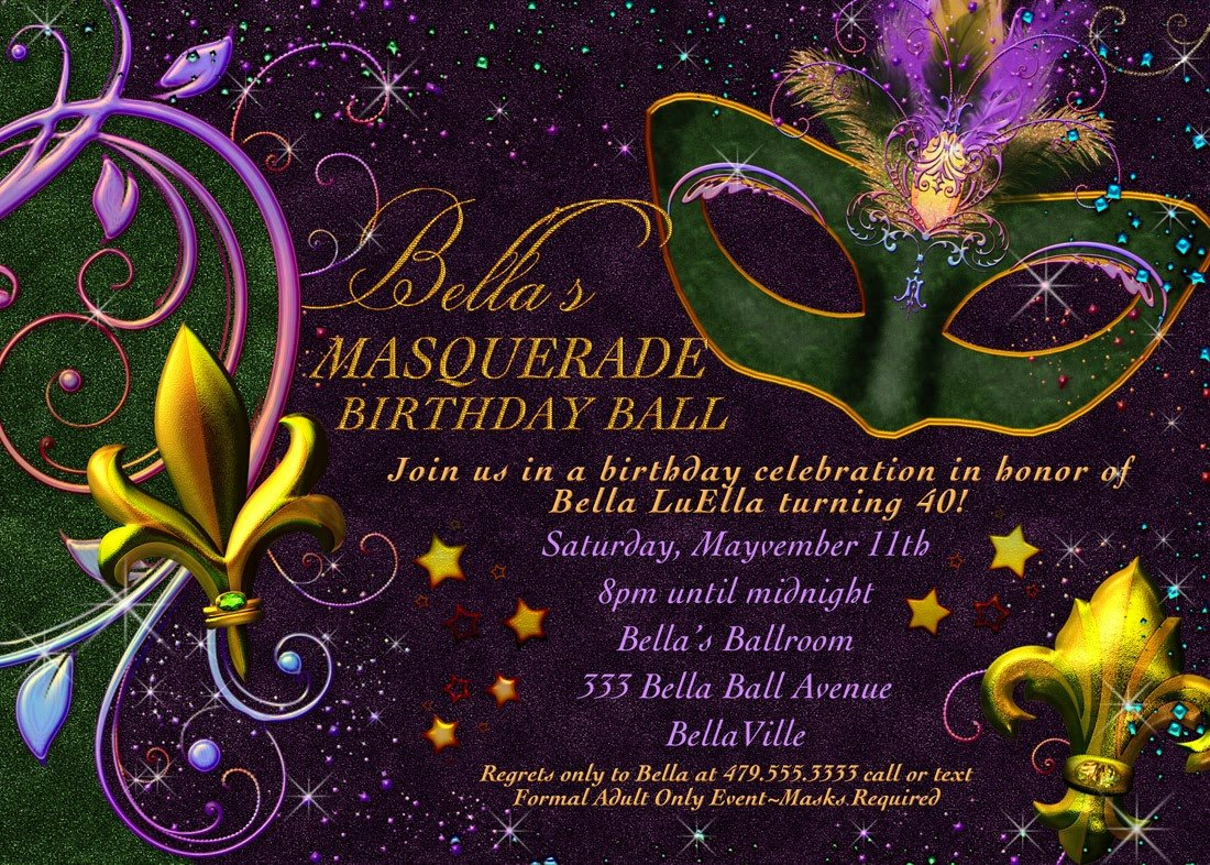 Masquerade Invitations Template Free Bella Luella January Has E and Gone