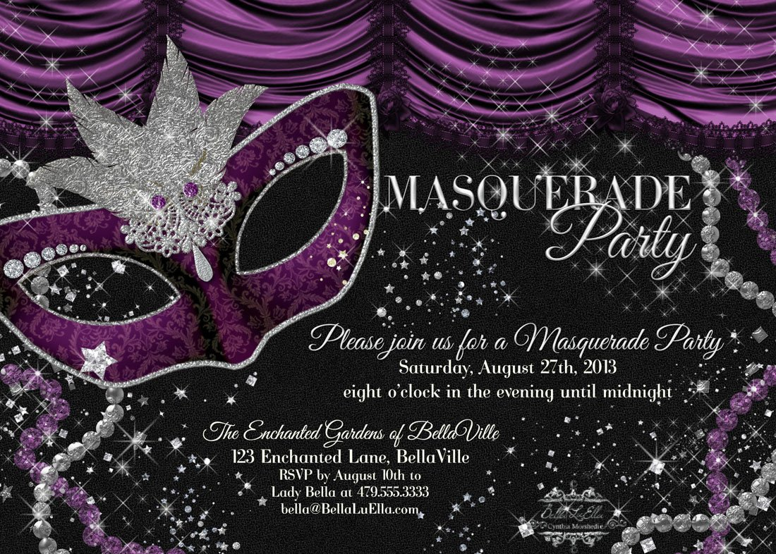 Masquerade Invitations Template Free Bella Luella Masquerade Parties for Spring and Summer